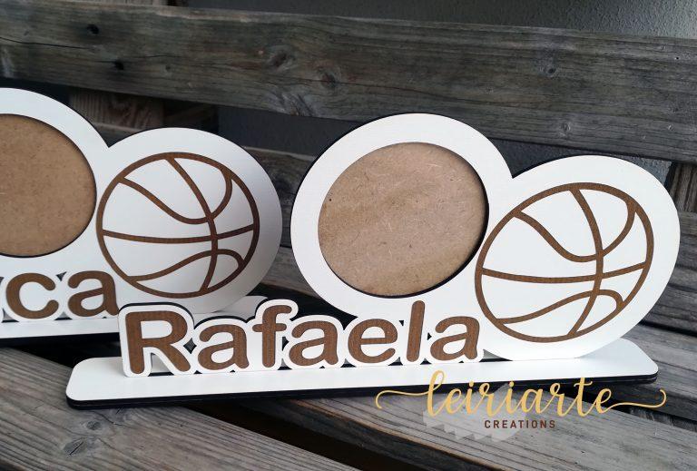 "Moldura personalizada - desporto ""basket"""