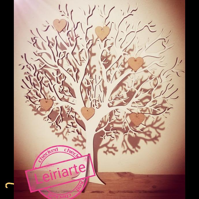 Árvore personalizada com corações - 60 cm