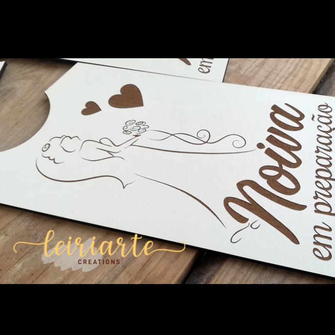 Placas personalizadas para porta - noivos