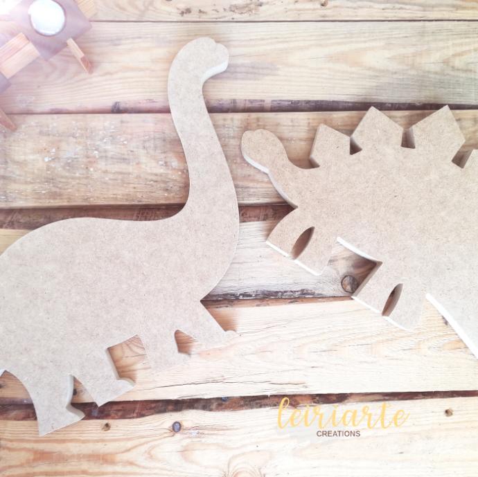 Dinossauros em mdf crú