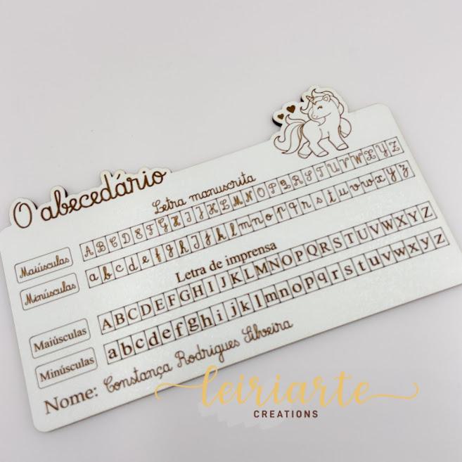 Placas de abecedário