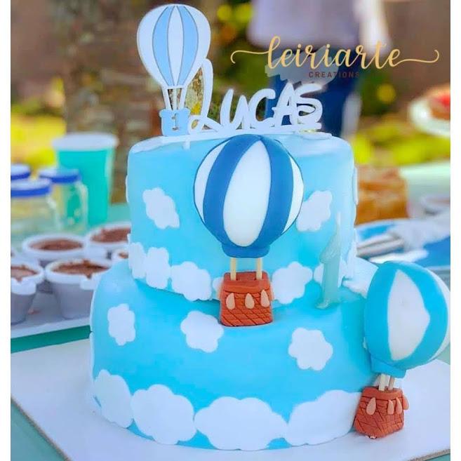 """Topo de bolo personalizado """"balão"""""""
