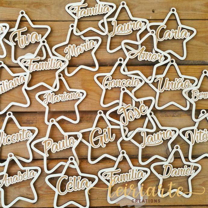 Estrelas de natal personalizadas - 10 cm