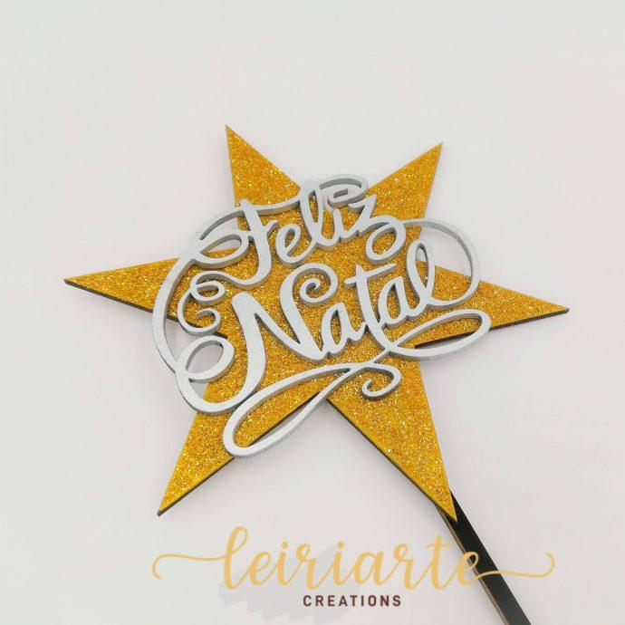 Estrela de natal para árvore