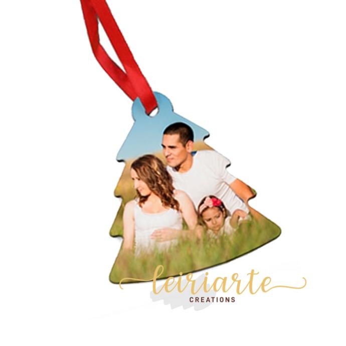 Árvore de natal personalizada com foto - 8 cm